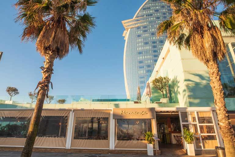 Mamarosa Beach, exterior restaurante