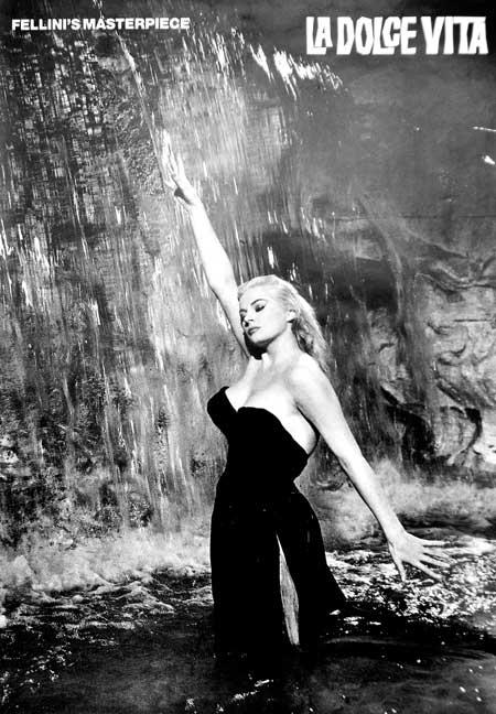 Cartel de La Dolce Vita, una de las obras cumbres del universo Fellini