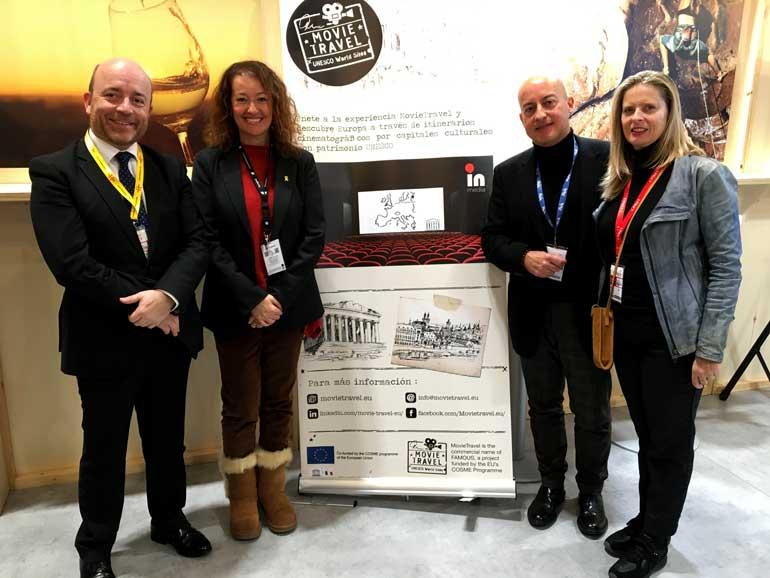 De izquierda a derecha Patrick Torrent director ejecutivo de la Agència Catalana de Turisme; Laura Castel, teniente de alcalde del Ayuntamiento de Tarragona; Josep Maria Palau y Livia Paretti de Inmedia