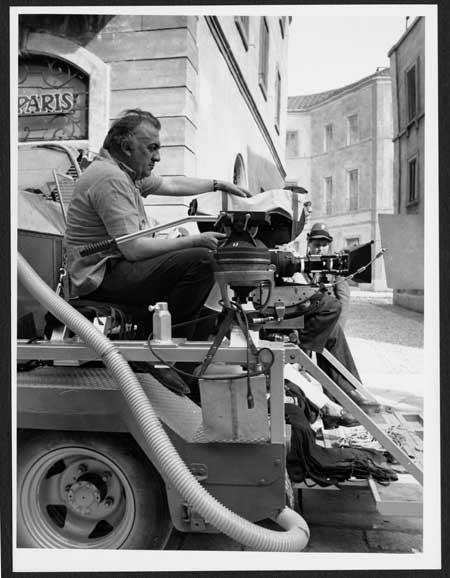 Set del film Amarcord. Roma, Cinecittà, 1973. Foto Davide Minghini