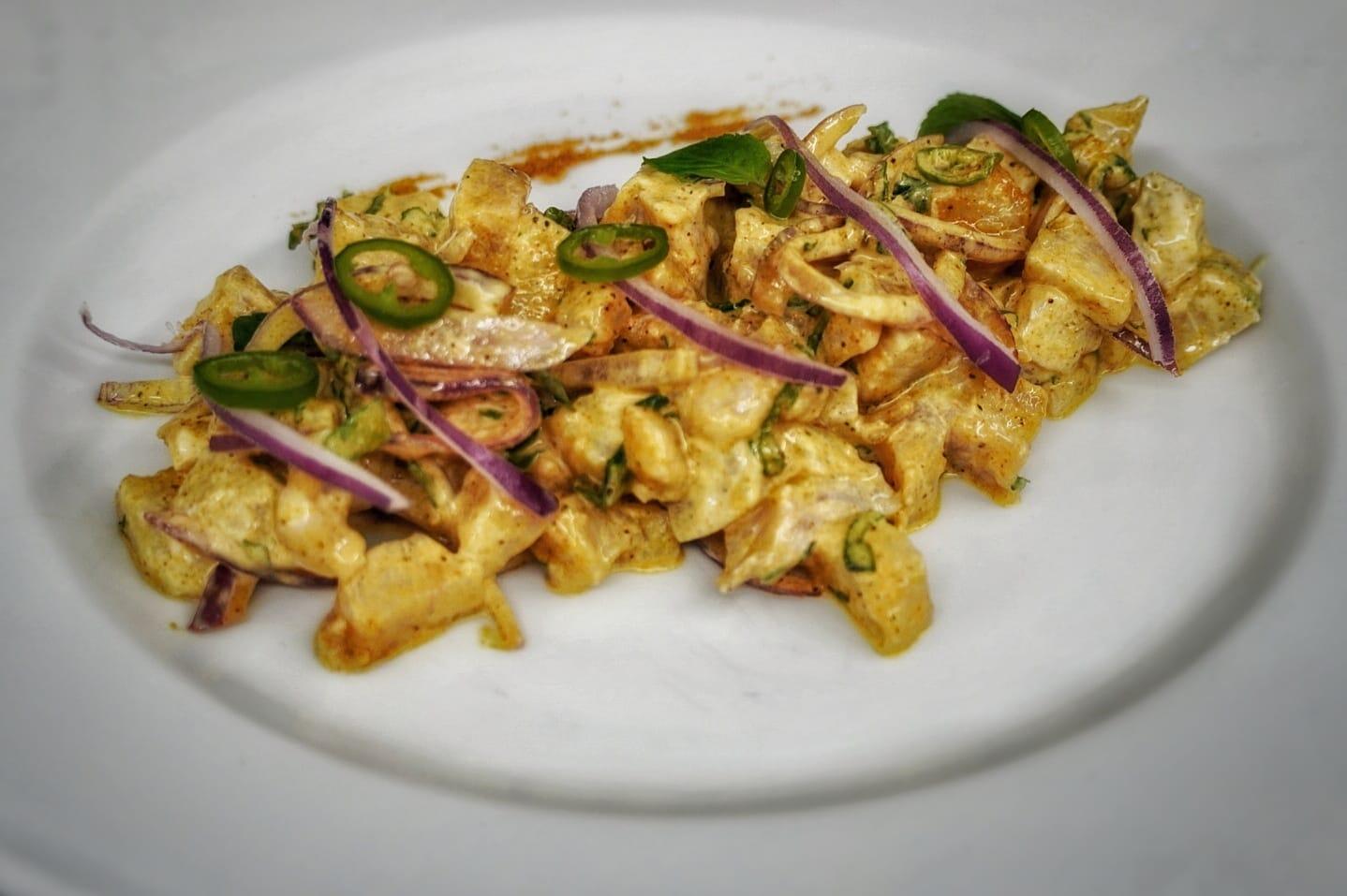 Ceviche con curry