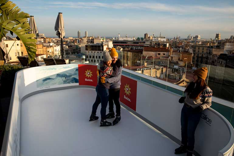 Pista de hielo en The One Barcelona