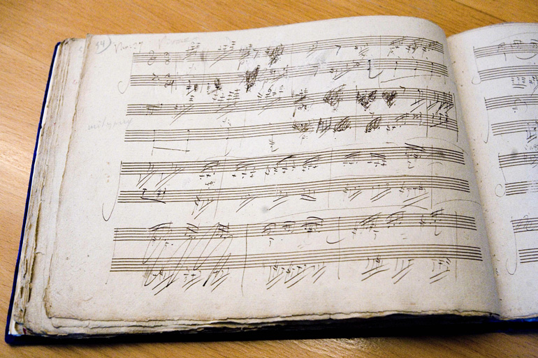 Partitura original de Beethoven © Michael Sondermann