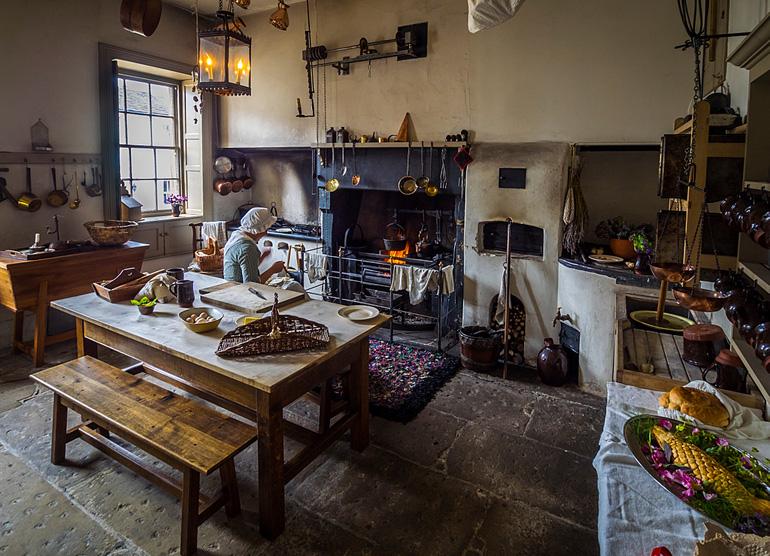 Cocina de la casa natal de William Wordsworth