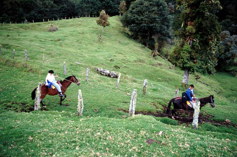 Cabalgata en la falda del volcán Turrialba