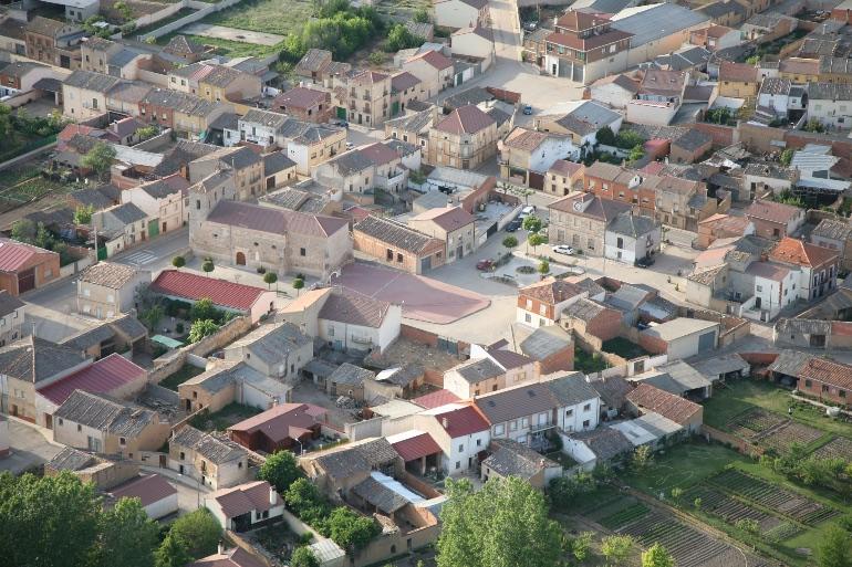 Vista aérea de Berlangas de Roa