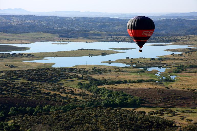 Paisajes de Algarve desde un globo