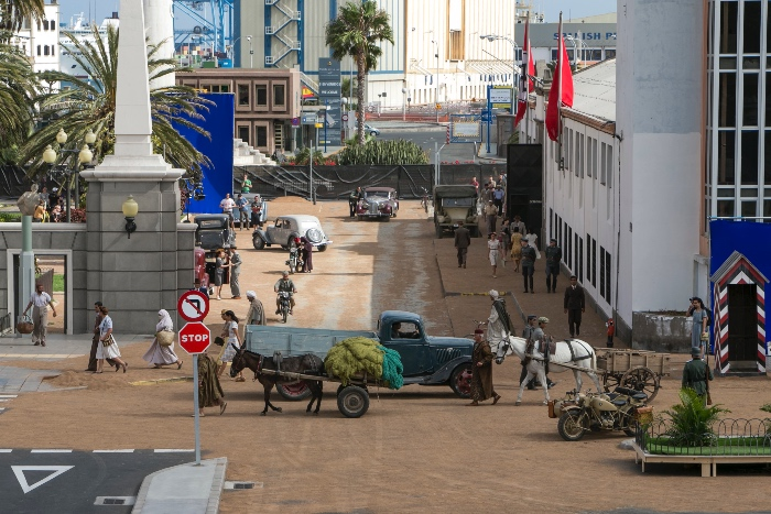Rodaje de Aliados en la Plaza Manuel Becerra junto al Puerto de Las Palmas @ Quique Curbelo