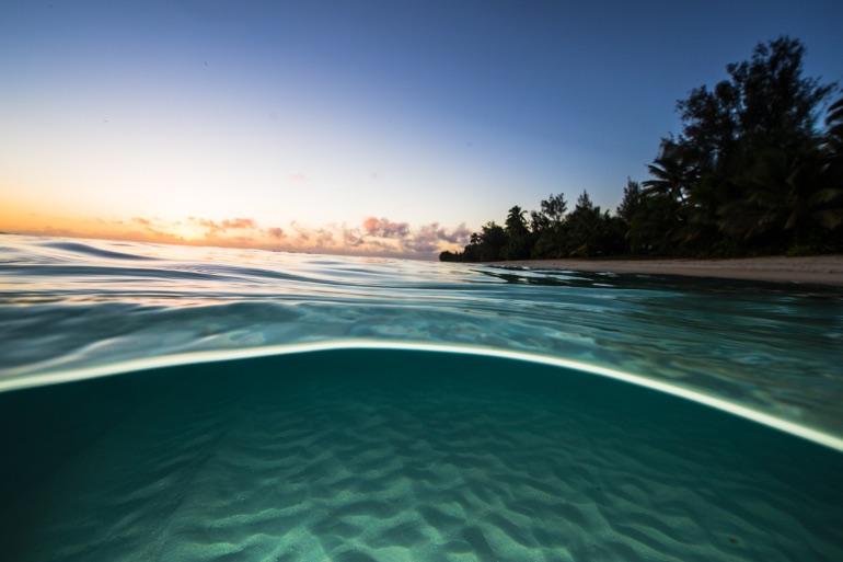Atardecer en las Islas Cook