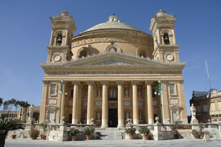 Iglesia de Santa María, en Mosta