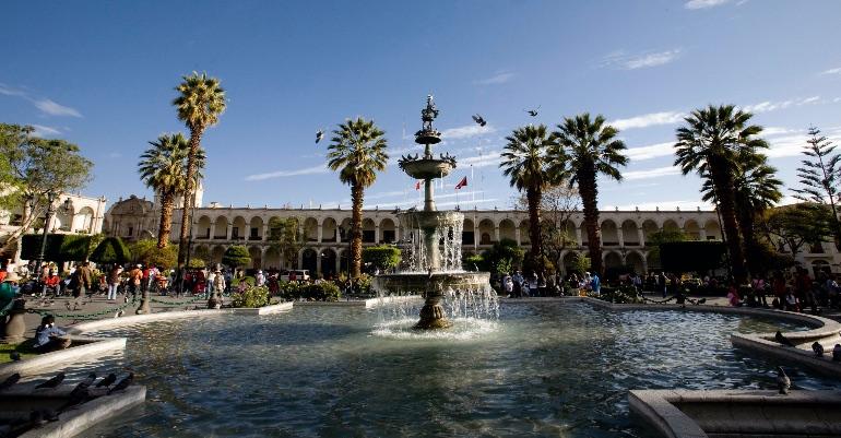 Plaza de armas de la ciudad de Arequipa
