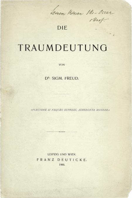 """Portada de """"La Interpretación de los sueños"""", la obra de Sigmund Freud"""