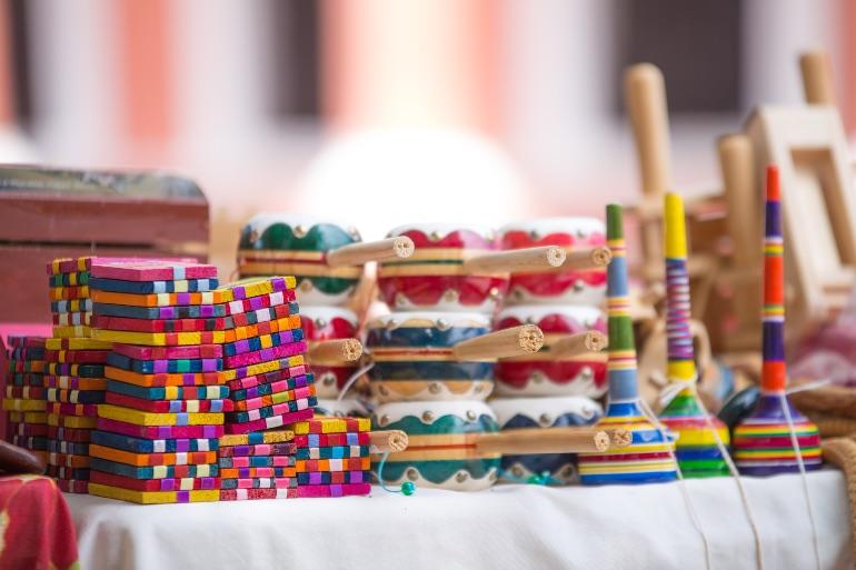 Artesanía colorida de Mexcaltitán