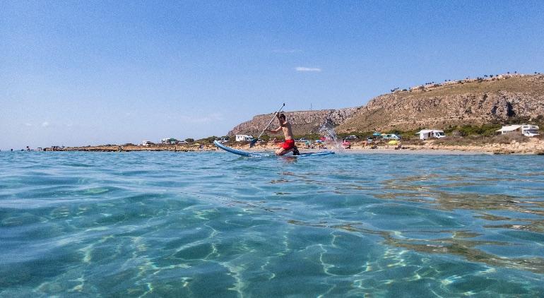 SUP en Calas del Cabo, Santa Pola