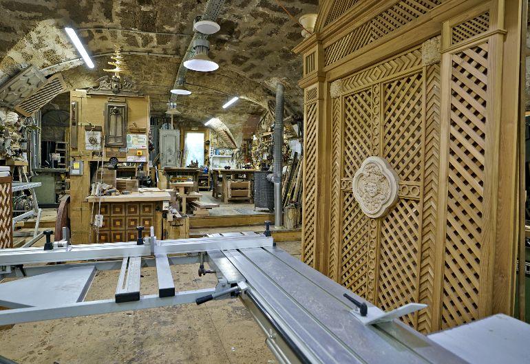 Taller de madera en Pézenas