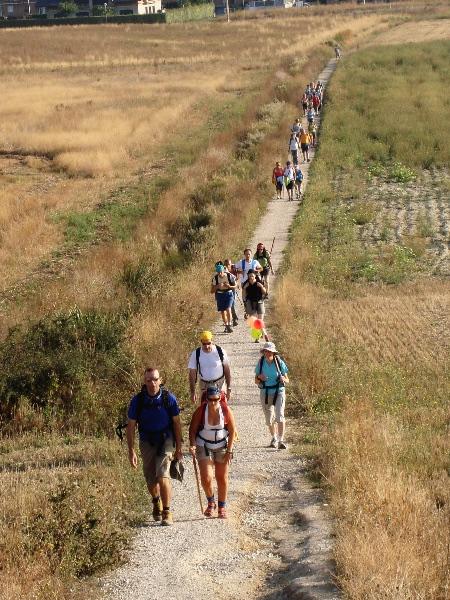 Muchas familias optan por hacer el Camino de Santiago en sus vacaciones