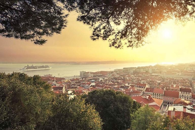 Vistas de Lisboa desde el Castillo de San Jorge