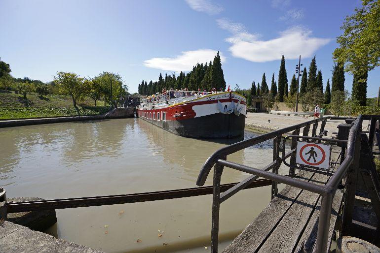 Las esclusas de Fonsérannes constituyeron en un su época unas de las mayores obras de ingeniería que se construyeron en Europa
