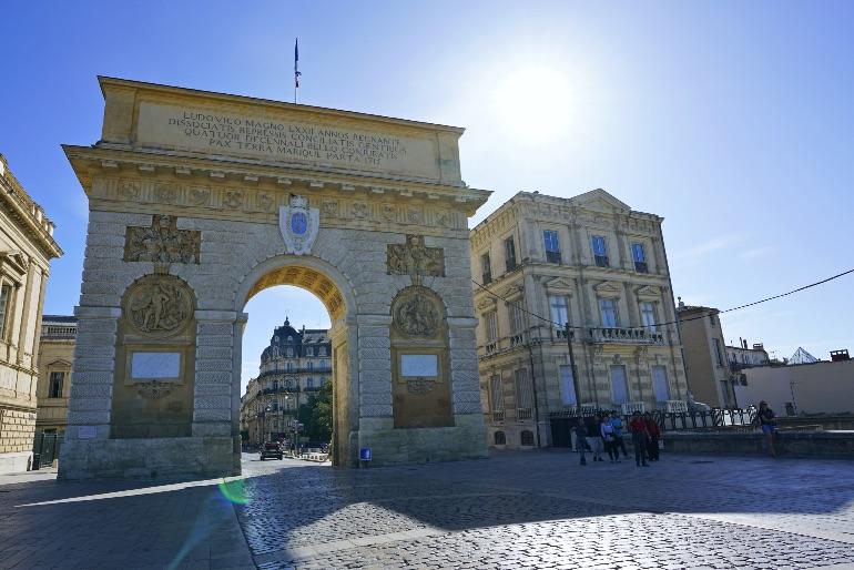 Arco de triunfo de Montpellier dedicado a Luis XIV