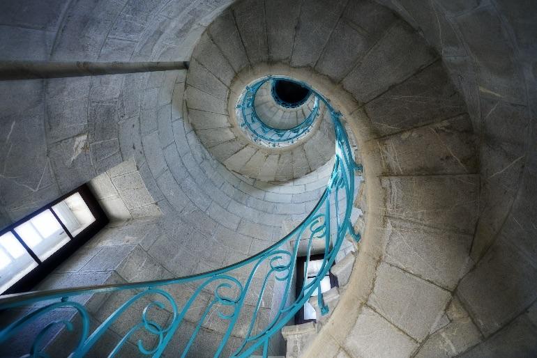 Interior del faro de Sète