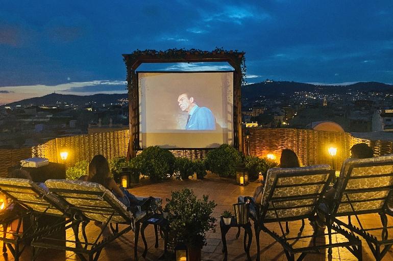 Cine al aire libre en el Rooftop de El Palace Barcelona