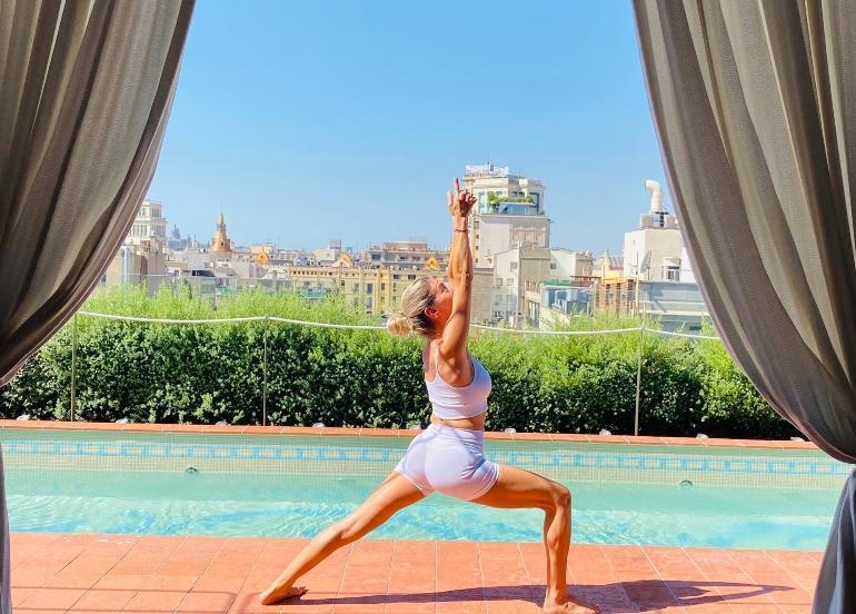 Yoga en el Rooftop de El Palace Barcelona