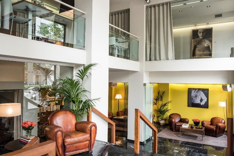 El lobby de Miró Hotel está decorado con una maravillosa colección de fotografías © Enrique Moreno Esquivel