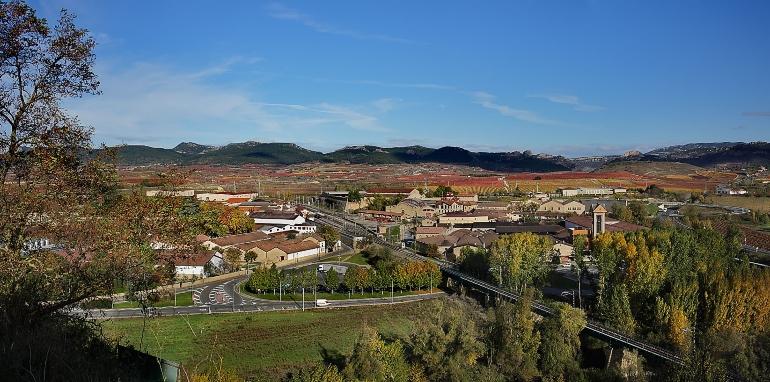 Vista aérea del Barrio de La Estación de Haro
