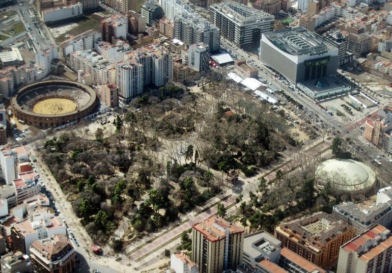 Vista aérea del Parque de Ribalta