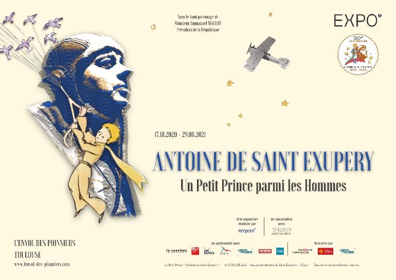 Cartel de la exposición dedicada a Antoine de Saint Exupéry