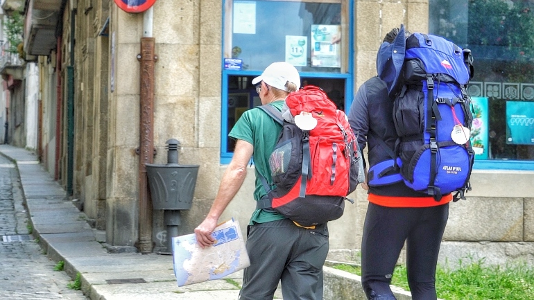 Peregrinos en el Camino Inglés de Ferrol