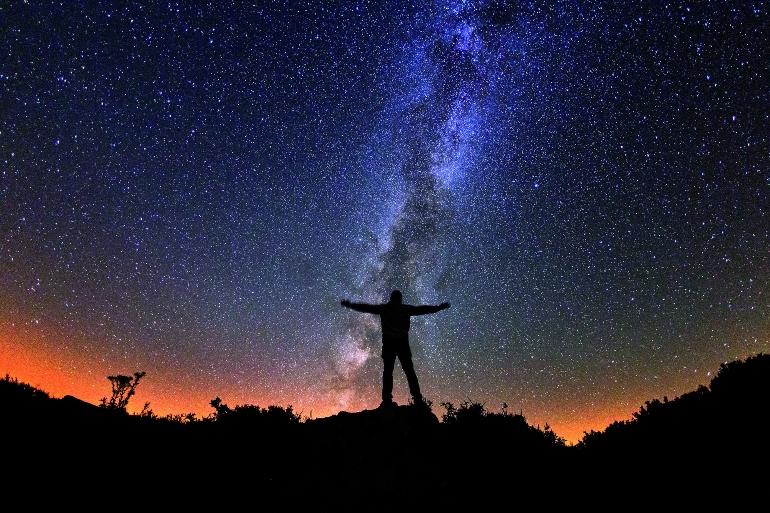 Vía Láctea desde el Miradoiro Estelar de La Lago a Ocelo