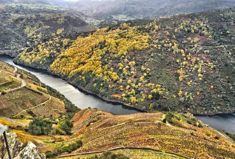 Paisajes de otoño en la Ribeira Sacra