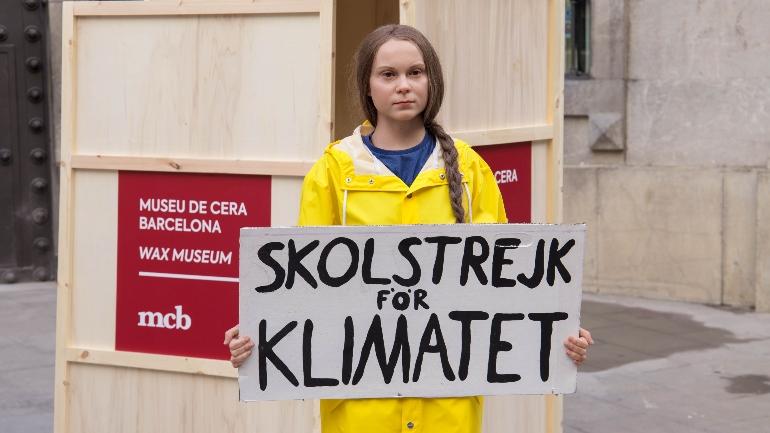 Greta Thunberg está en Museo de Cera de Barcelona para recordarnos la importancia de cuidar de nuestro planeta