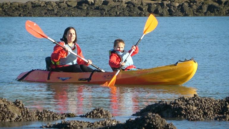 Kayak por la ría de Ares