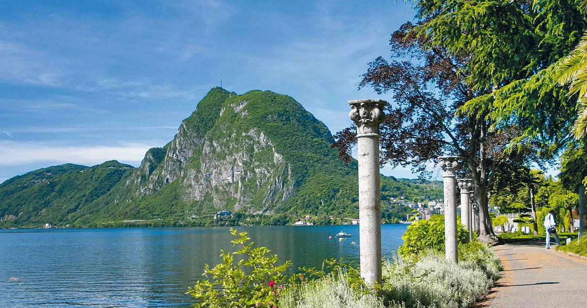 Sendero de los olivos de Lugano