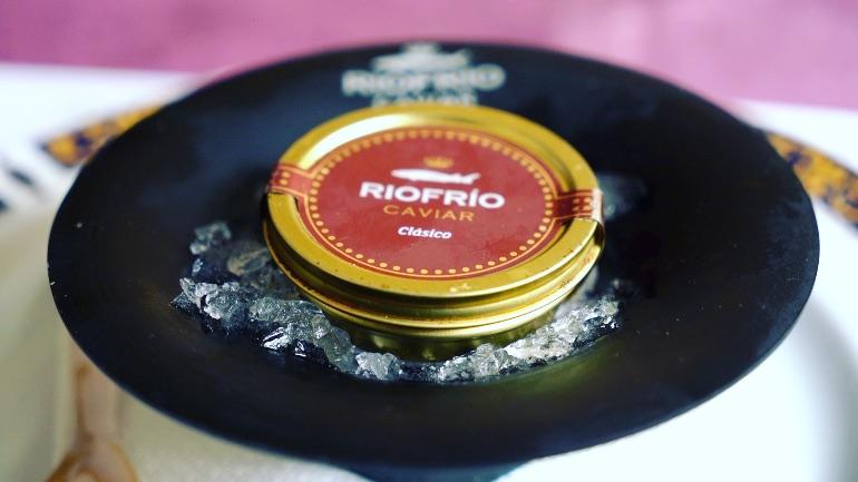 El caviar de Ríofrío es excelente