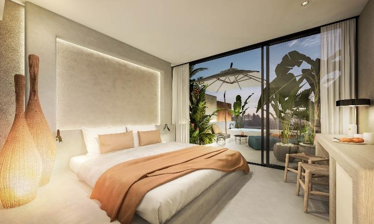 Las estancias de Nativo Hotel Ibiza son amplias y luminosas