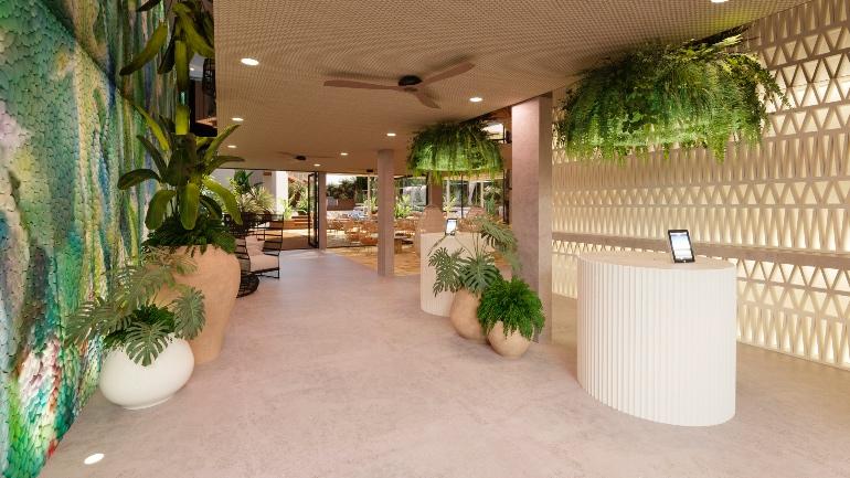Recepción de Nativo Hotel Ibiza