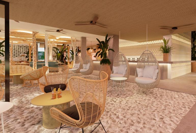 Zona arena interior de Nativo Hotel Ibiza