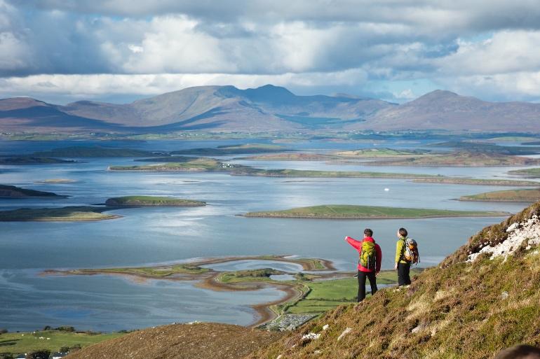 Vistas desde la montaña sagrada de Irlanda, Croagh Patrick