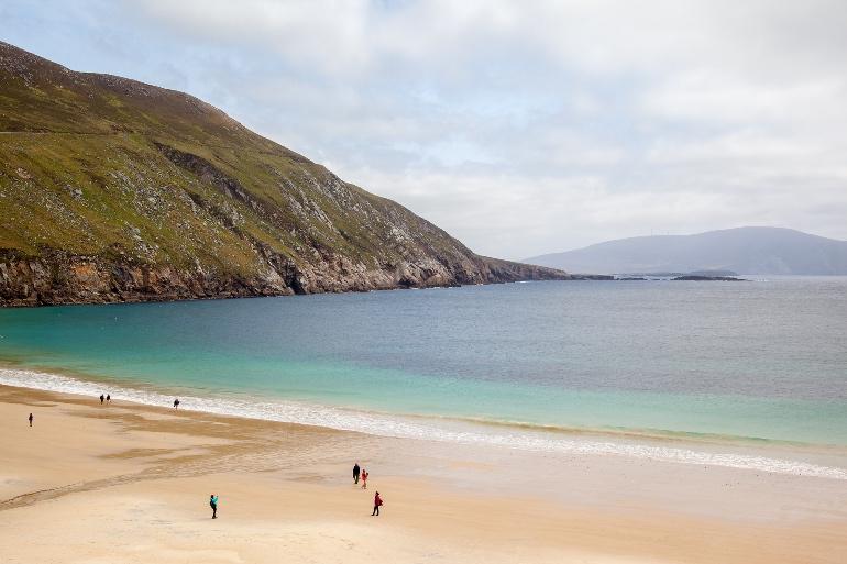 Bahía de Keem en la isla de Achill, en el condado de Mayo