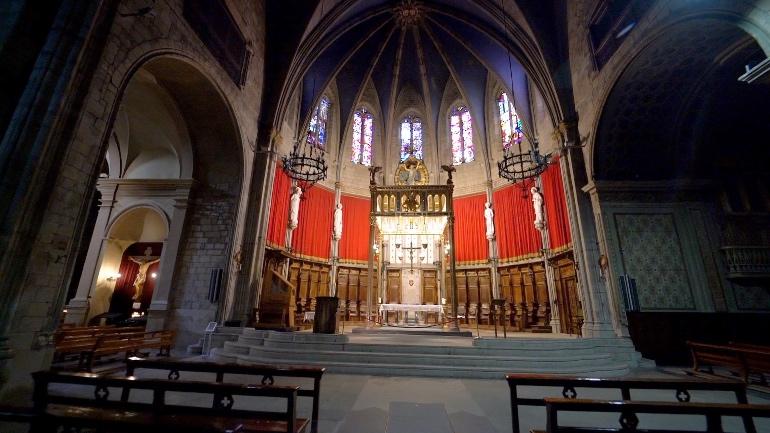 Interior de la catedral de Santa María de Solsona