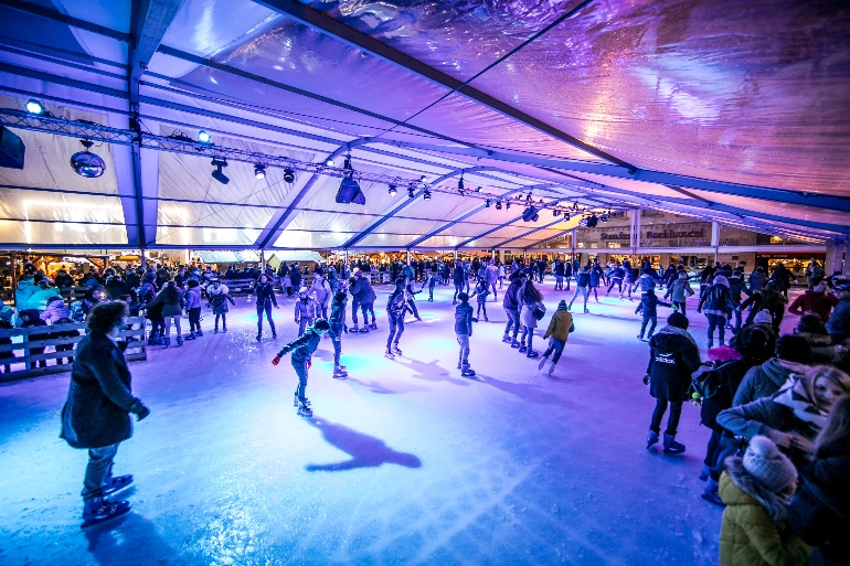Pista de patinaje en Bruselas © Eric Danhier