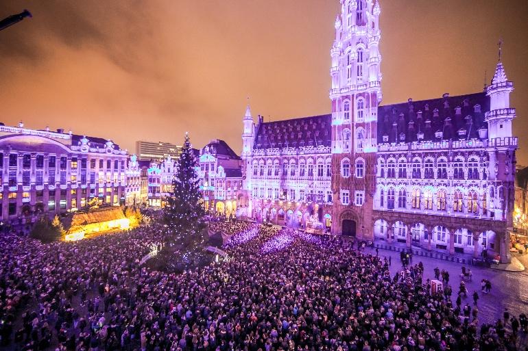 Grand Place en Navidad. © Eric Danhier