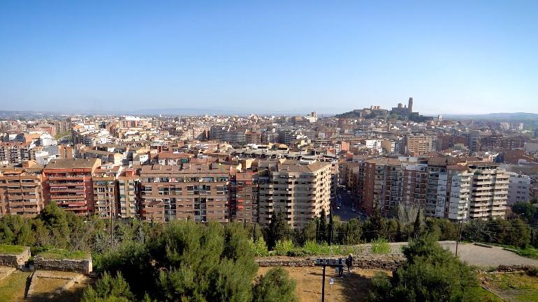 Vistas de Lleida desde el Castillo de Gardeny