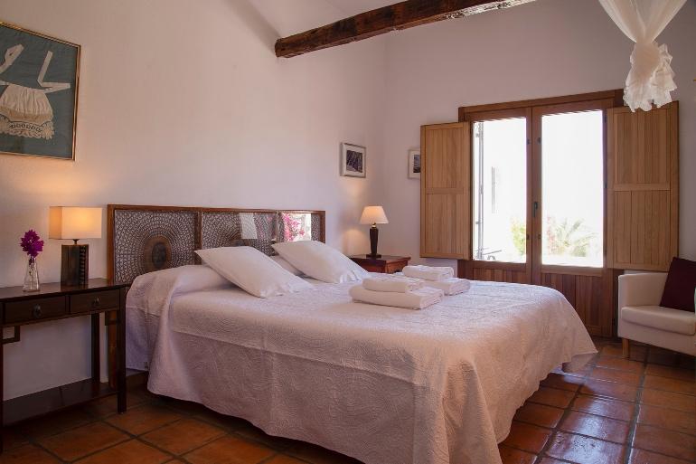 Habitación doble del hotel Cortijo Los Malenos