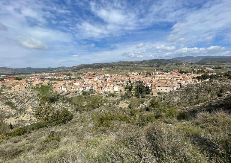 Vista de Rubielos de Mora desde el Mirador de la Cruz