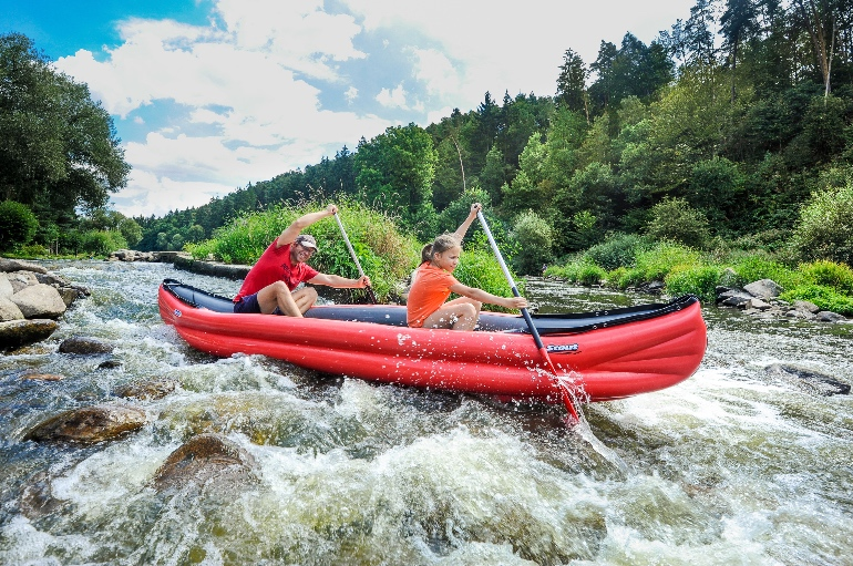Bajando el río Sázava en piragua @Jan Hocek