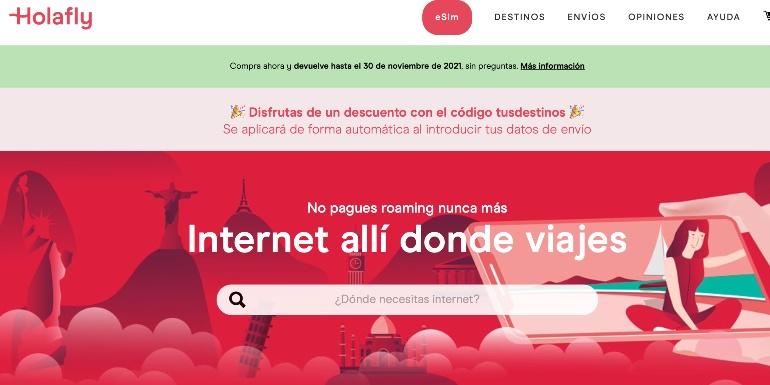 Holafly, internet allí donde viajes